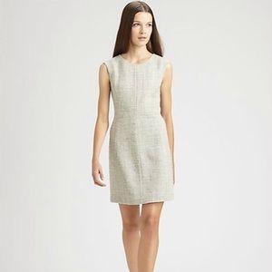 Theory franita dress Sz 10 Roman tweed sheath Gray